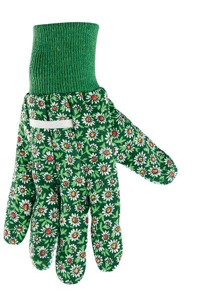 Перчатки садовые х/б ткань с ПВХ точкой, манжет   PALISAD