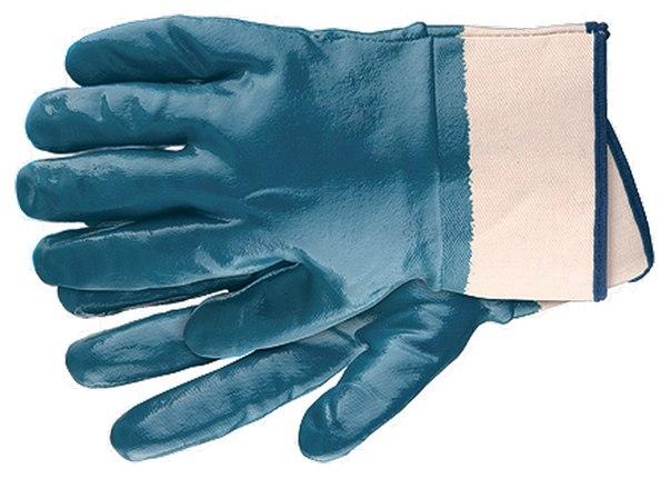 Перчатки рабочие из трикотажа с нитриловым обливом, крага   СИБРТЕХ