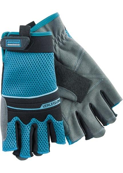 Перчатки комбинированные облегченные, открытые пальцы   GROSS