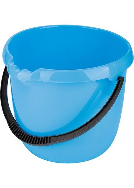 Ведро пластмассовое круглое 12л, голубое    Elfe