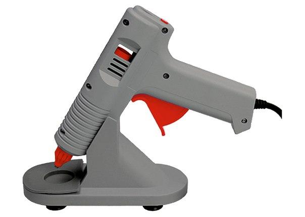 Клеевой пистолет с регулировкой температуры, с подставкой   MATRIX