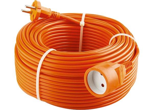 Удлинитель-шнур силовой, 1 прорезиненная розетка, 10A, STERN   STERN