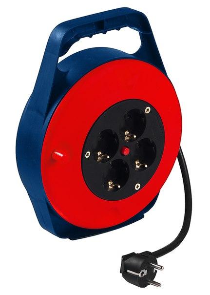 Удлинитель силовой на кабельной катушке в закрытом корпусе, 3*1мм*10м, 4 розетки, 10A, STERN   STERN