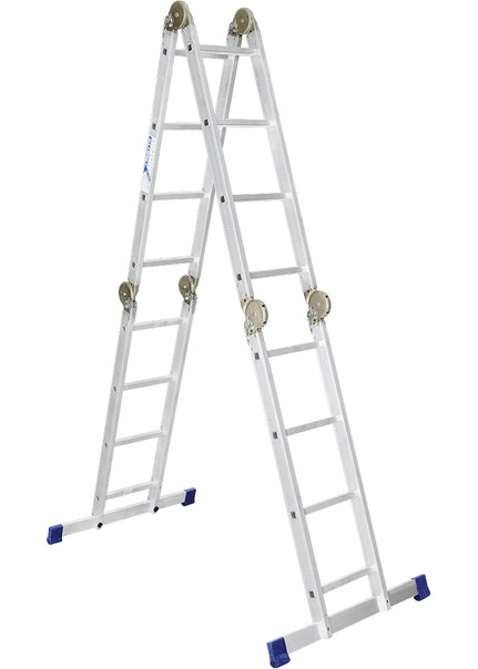 Лестница, алюминиевая, шарнирная   РОССИЯ