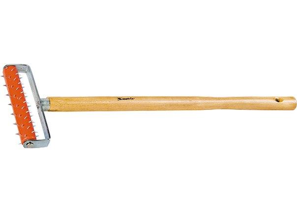 Валик для гипсокартона, 150 мм, игольчатый, деревянная ручка 500 мм   MATRIX