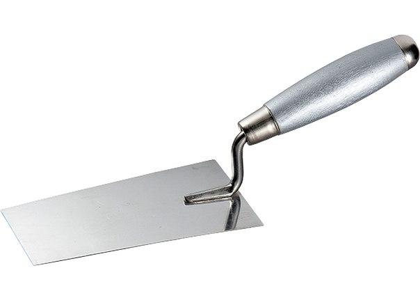 Кельма из нерж. стали, деревянная ручка   MATRIX
