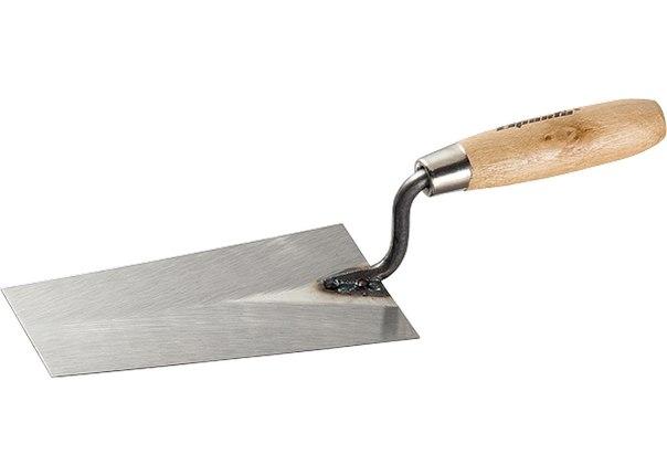 Кельма каменщика стальная, деревянная ручка   SPARTA