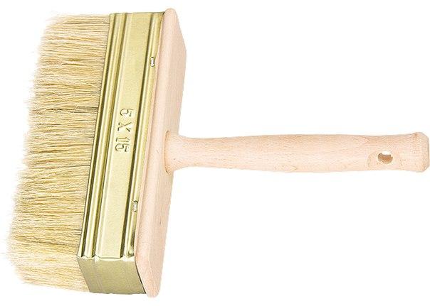 Кисть-макловица, натуральная щетина, деревянный корпус, деревянная ручка   РОССИЯ