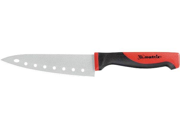 """Нож поварской """"SILVER TEFLON"""" medium, 120 мм, тефлон. покрытие полотна, двухк. рук.   MATRIX"""