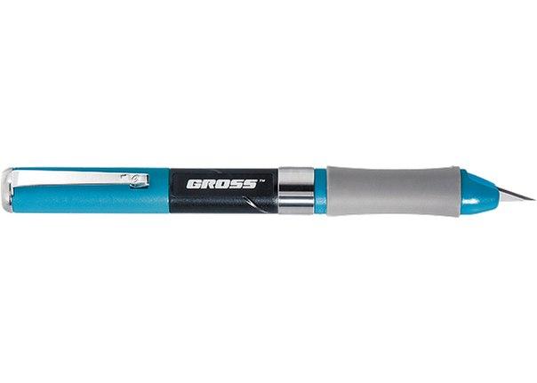 Нож для дизайна,выдвиж перовое лезвие,двухкомп .рук-ка,мет клипса для фиксации,150мм + 2 з.л   GROSS