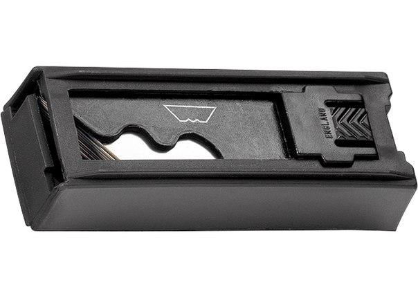 Нож, 18 мм, выдвижное трапециевидное лезвие, металлический корпус + 8 лезвий   MATRIX