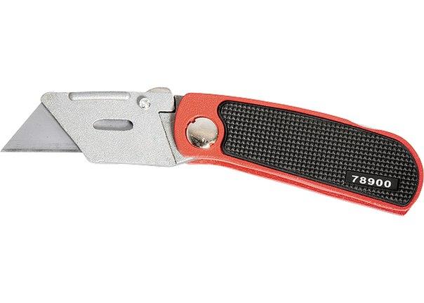 Нож, 18 мм, складной, сменное трапециевидное лезвие, + 10 лезвий   MATRIX