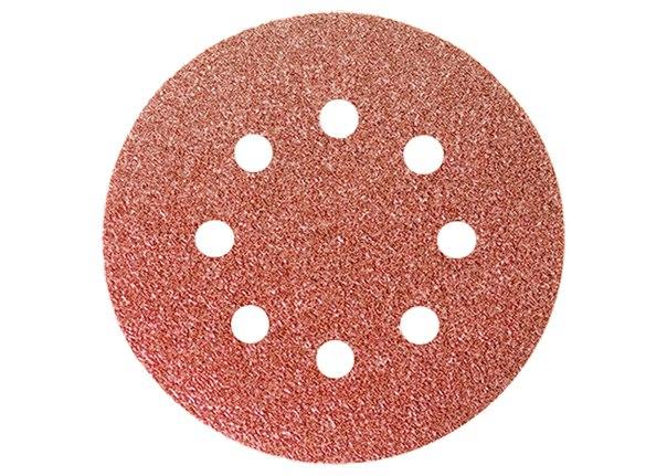 """Круг абразивный на ворсовой подложке под """"липучку"""", перфорированный, 125 мм, 5 шт.   MATRIX"""