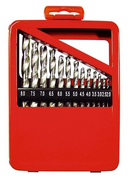Набор сверл по металлу, (через 0,5 мм), HSS, метал. коробка цил. хвостовик   MATRIX