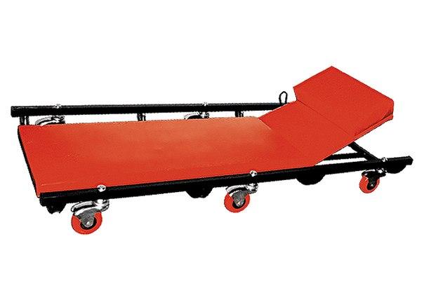 Лежак ремонтный на 6-ти колесах, 1030 х 440 х 120 мм, поднимающийся подголовник   MATRIX