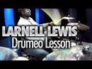 Larnell Lewis At Drumeo Yamaha DTX 950K Drums Zildjian Gen16 Cymbals - DRUMEO