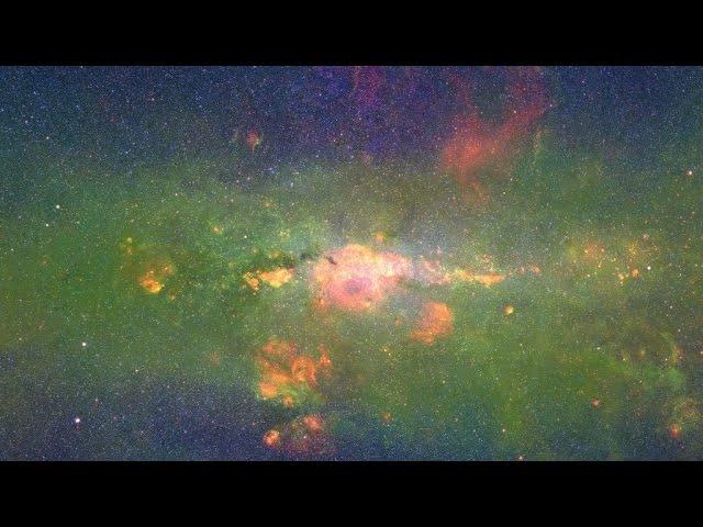 Космическое путешествие по нашей галактике Млечный путь. Floating Along the Milky Way (in 4k60p).