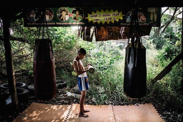 тайский бокс, фото, Битва взглядов