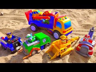 Щенячий Патруль и машинки с автовозом. Развивающие машинки для детей. PAW PATROL