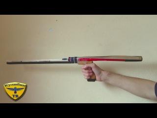 Как сделать пневматическую рогатку / Selfmade pneumatic slingshot