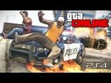 GTA 5 Online (PS4) - Безбашенный паркур! #106