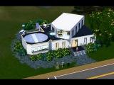 Строительство дома в Симс 3 завершено.