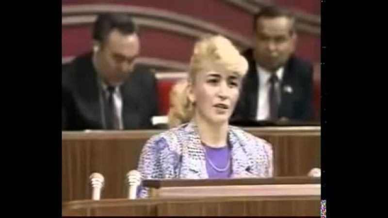 Сажи Умалатова требует отставки Горбачёва 1990 год