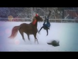 My horse goes crazy! [[Horse fall]]