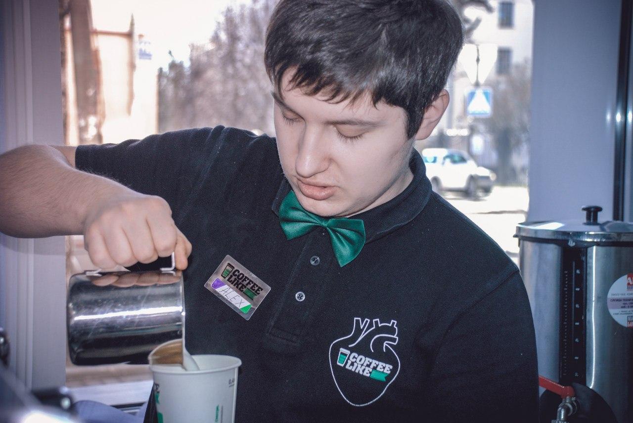 Александр Гужавин на открытии нашего кофе-бара