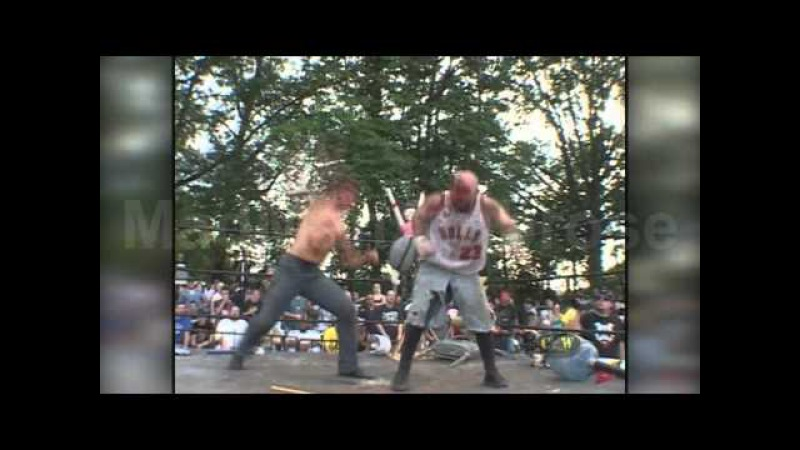 Nick Gage vs Jon Moxley vs Scotty Vortekz - CZW - Highlights