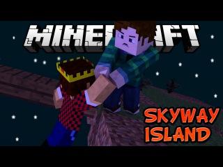 ПЕРВЫЙ ДЕНЬ НА ОСТРОВЕ - Minecraft Skyway Island Survival 01