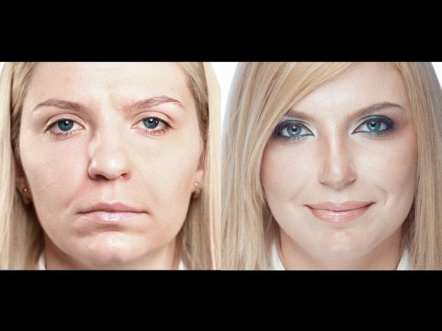 Сексуальный вечерний макияж. Коррекция носа. Sexy evening make-up. (Урок №14)