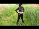 Pissing in leather leggings and rubber boots  mit bondageangel