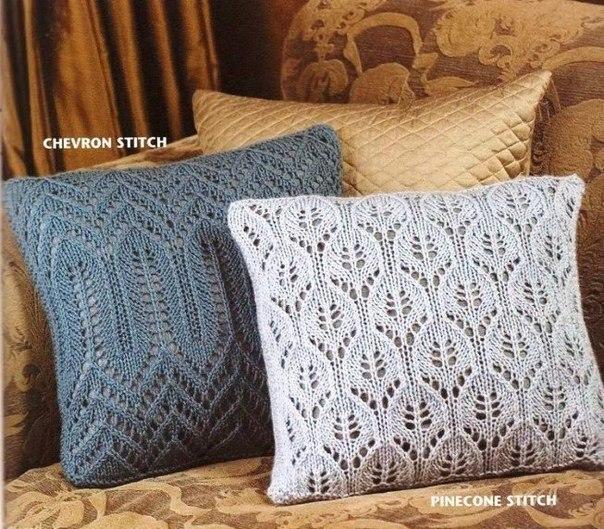 Ажурные чехлы на подушки
