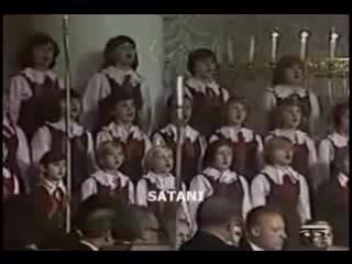 Детский хор поёт гимн Сатане