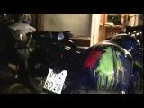 Российские мотоциклы в Тбилиси закрасили в цвета украинского флага
