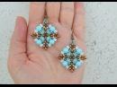 DIY Turorial Orecchini Semplice Sai twin beads cipollotti perline Swarovski Beading