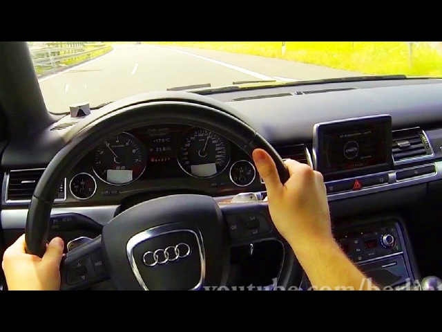 Audi S8 V10 in ACTION Kickdown Acceleration Sound POV Onboard BEST OF 2013 A8 4E Autobahn