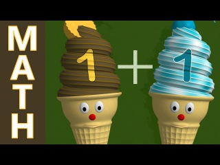 Learn Addition +1: Math Lesson with Ice Cream Cones for Children