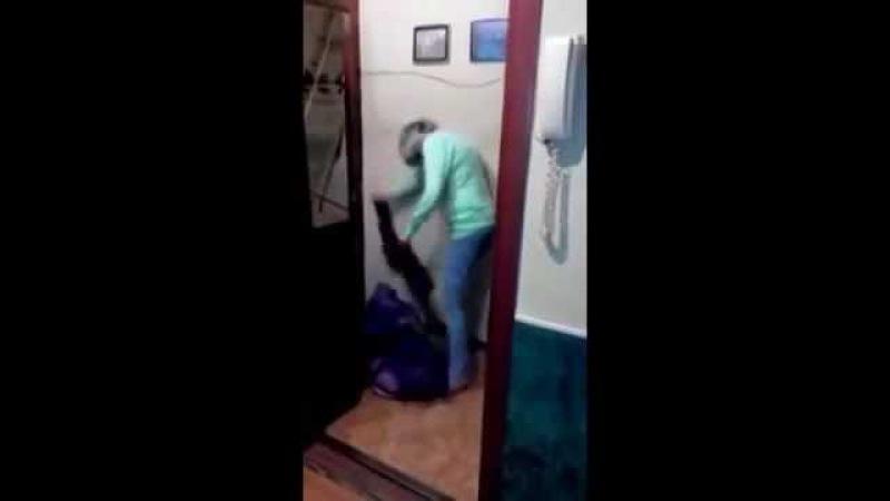 Пьяная жена пришла домой! Муж в ярости! ШОК