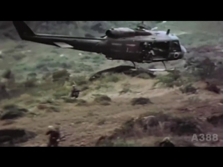 BELL UH-1 Huey Helicopter in Vietnam - Rolling Stones Gimme Shelter HD
