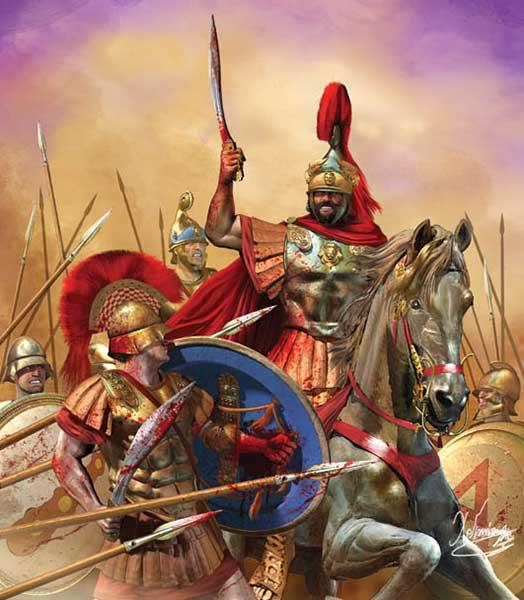 погиб в битве при Херонее.