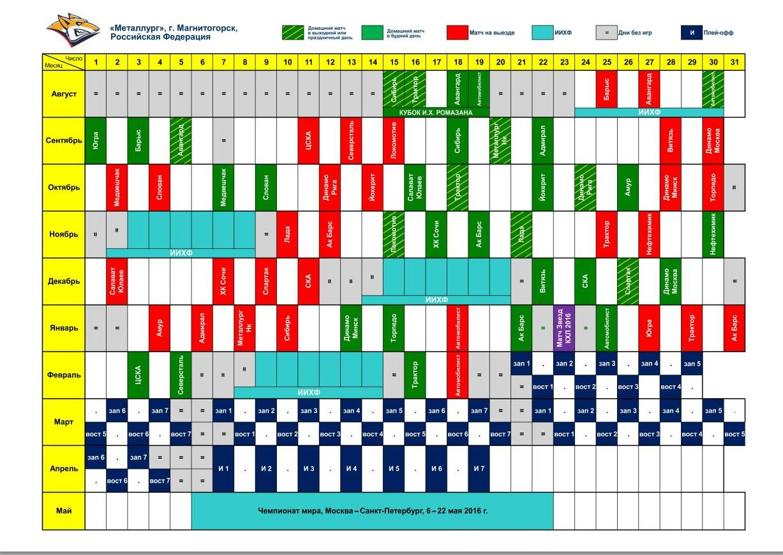 Календарь игры МХЛ 2018 года - Спорт
