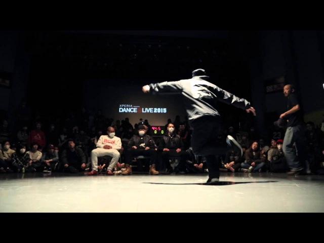 KENTA(TRUST) vs RYO aka DJ226(WHITE BEACH) SEMI FINAL② / DANCE@LIVE HOUSE KANSAI CHARISMAX 2015
