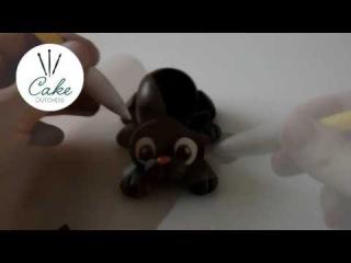 Декорирование тортов: маленькая черная кошка из мастики