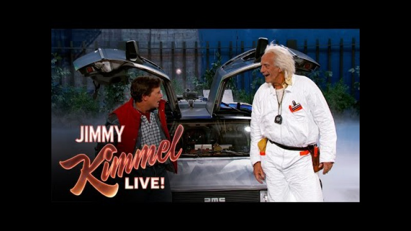 Marty McFly Doc Brown Visit Jimmy Kimmel Live