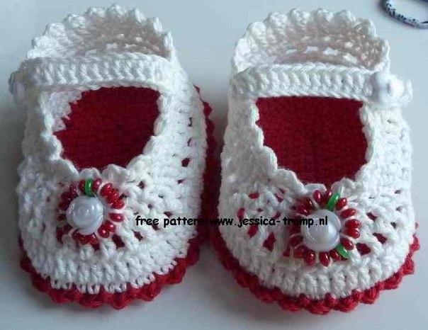 Пинетки туфельки для малышки (9 фото) - картинка