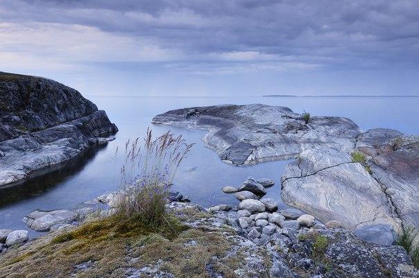 Утренние сумерки на Ладожском озере