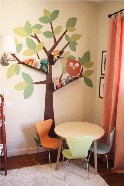 Прекрасная идея для детской комнаты