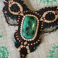 "Логотип Мастерская ""AlensiaArt"" макраме,камни,мехенди"
